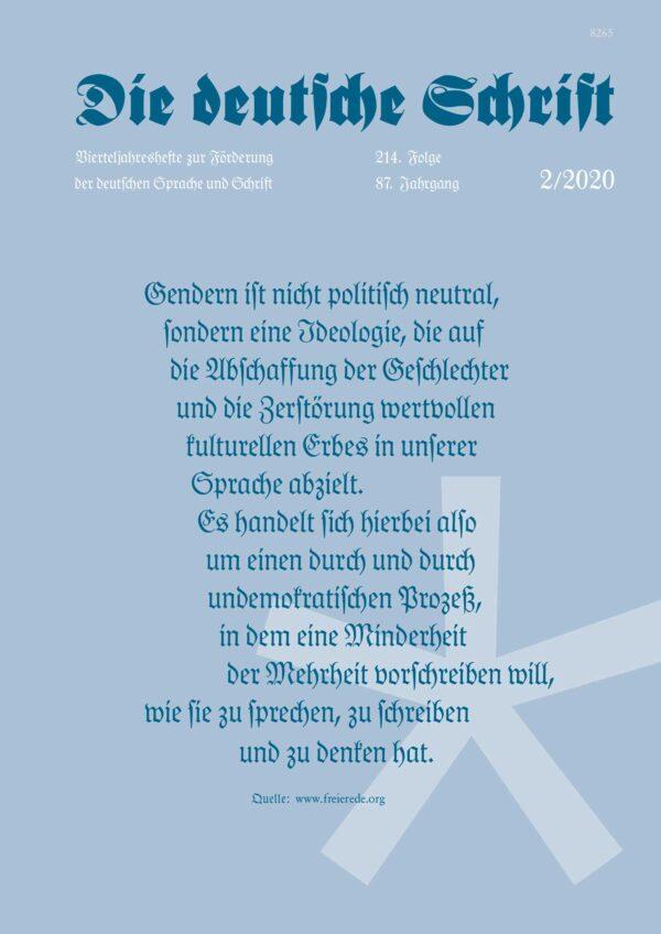 Die deutsche Schrift 2-2020