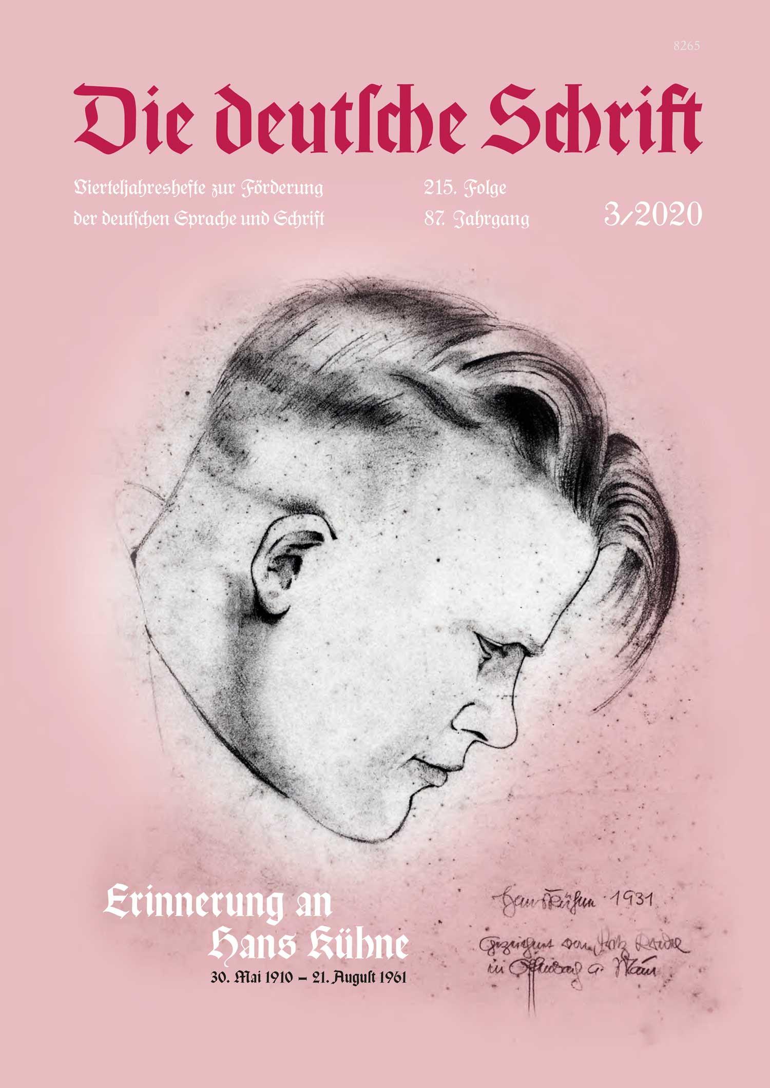 Die deutsche Schrift 3/2020