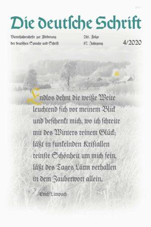Die deutsche Schrift 4/2020